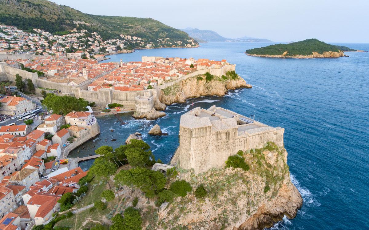 Dubrovnik aus der Luft