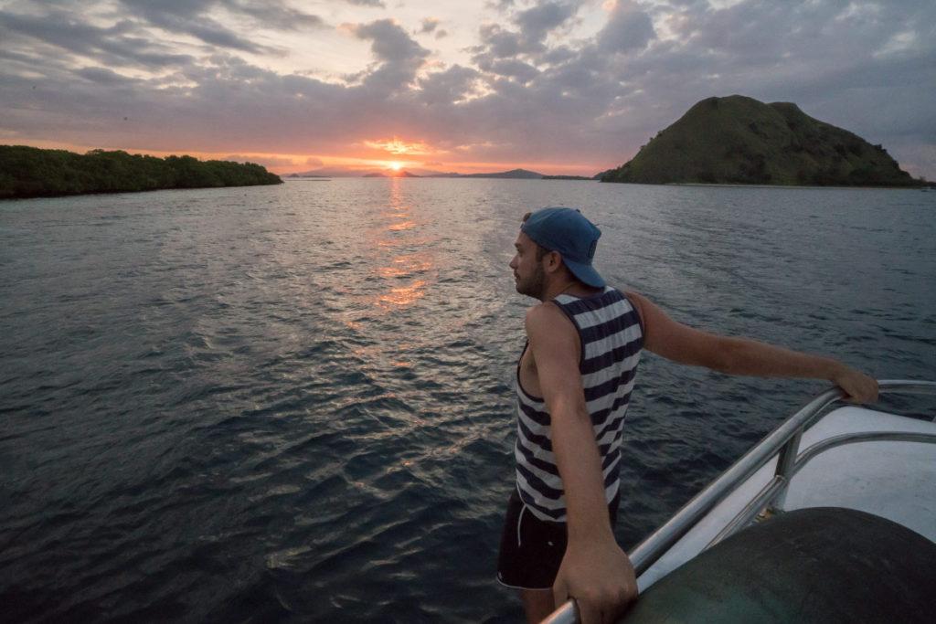 "Sonnenuntergang vor ""Bat Island"""