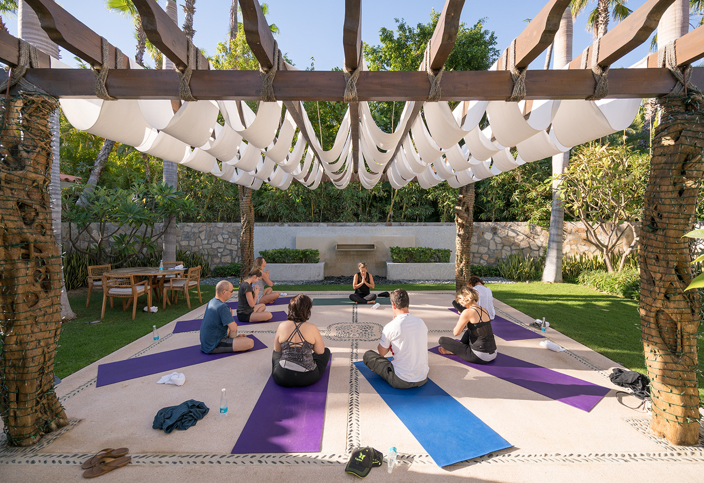 Yoga Klasse am Morgen