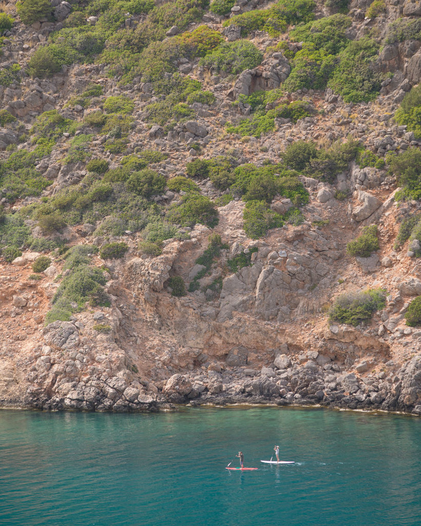 Stand-Up-Paddeling in der Bucht