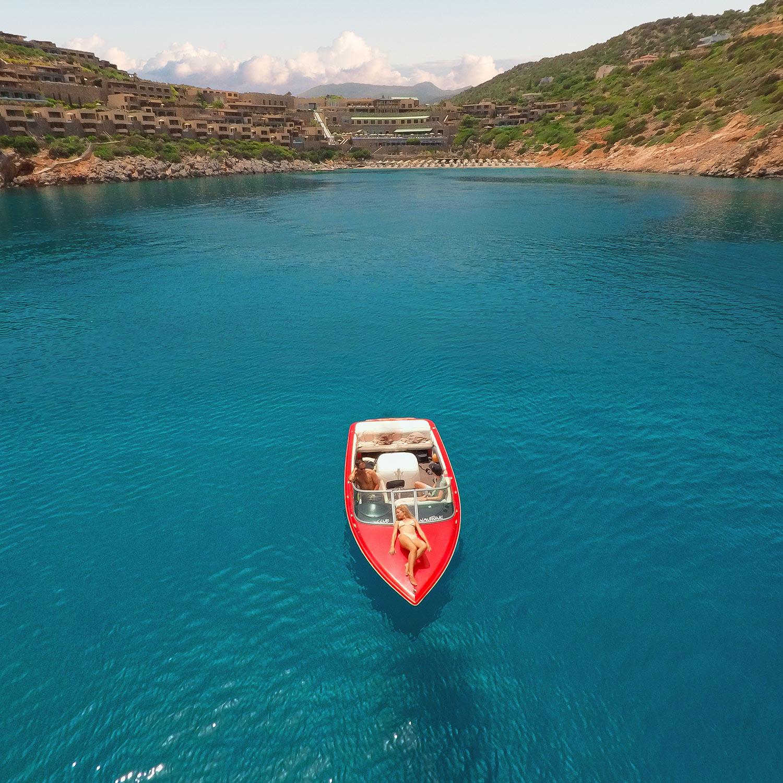 Auf dem Speedboat in Richtung Hotel