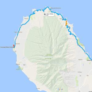 Route auf der Westseite